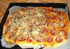 Pizza bez droždí recept