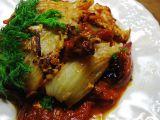 Fenykl s pečenými rajčaty recept