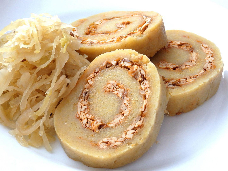 Pečený bramborový knedlík s uzeným tofu recept