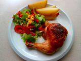 Kuřecí stehna s nádivkou a salátem recept