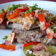 Hovězí roštěná se slaninou recept