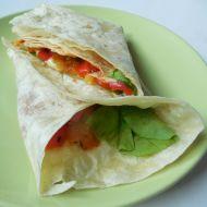 Tortilla plněná zeleninovou směsí recept
