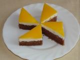 Tříbarevný koláč recept