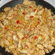 Kuřecí nudličky se zeleninou a šlehačkou recept