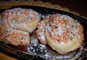 Pěnové koláčky z listového těsta