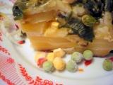 Brambory zapečené s pórkem a zeleninou recept