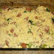 Brokolice s kuřecím masem a sýrem recept