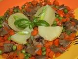 Hlíva s hráškem a mrkví recept