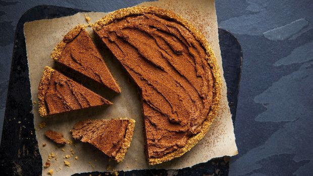 Nepečený nugátový koláč
