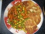 Bramborové karbanátky s dušenou zeleninou recept