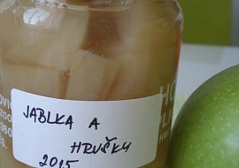 Jablečno  hruškový kompot recept