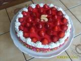 Jahodový dortík Kristýnka recept