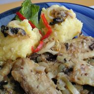Pečené rybí filé s houbami recept