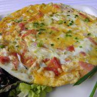 Vaječná omeleta s kuřecím recept