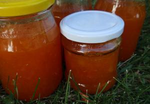 Broskvová / Meruňková marmeláda (džem) s rumem