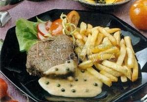 Bifteky se zeleným pepřem