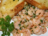 Česnekové krevetky recept