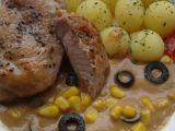 Krůtí medailonky s kukuřicí a olivami recept