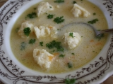 Kedlubnová polévka se sýrovými nočky recept