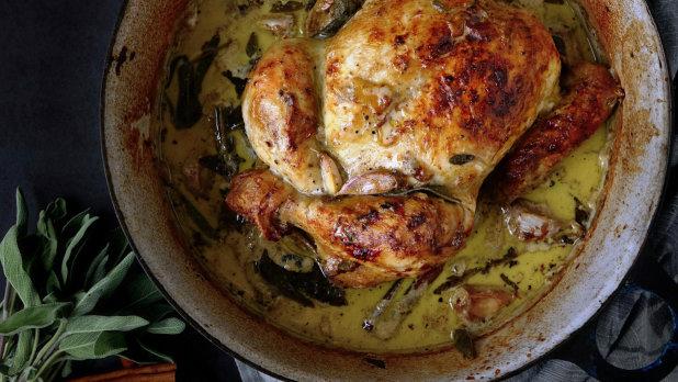 Kuře pečené v mléce