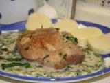 Vepřová plec s česnekovo-špenátovou omáčkou recept ...