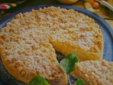 Drobenkový koláč s jablky recept