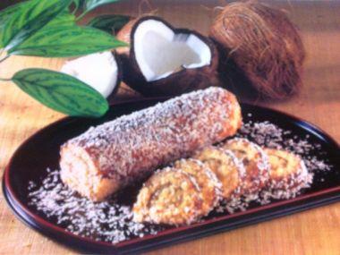 Vanilková roláda s kokosem