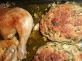 Bylinková nádivka vedle pečeného kuřátka recept