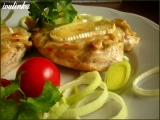 Zapečené kuřecí plátky s čepičkou a Hermelínem recept ...