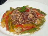 Rizoto se šmakounem a pikantní zeleninou recept