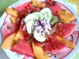 Nevšední melounový salát recept