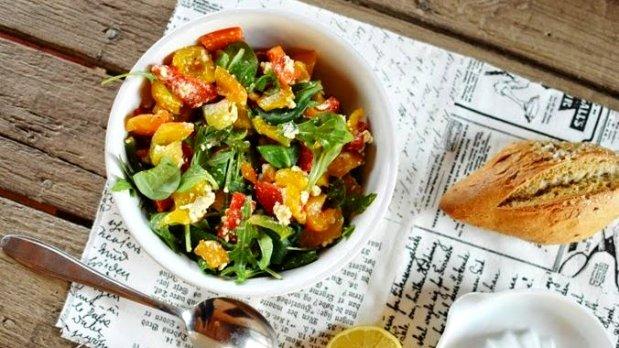 Salát z grilovaných paprik