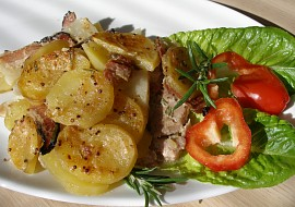 Kuřecí pod celerovo  bramborovým gratinem recept