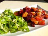 Pečená červená řepa s brambory a cibulí recept