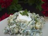 Bramborový salát se šruchou a fazolkami recept