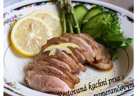 Restovaná kachní prsa s citrónovo-pomerančovým džusem recept ...