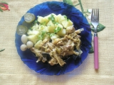 Bravčové na kari so zeleninou a omáčkou recept