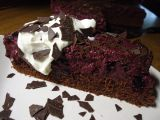 Čokoládovo  borůvkový dort