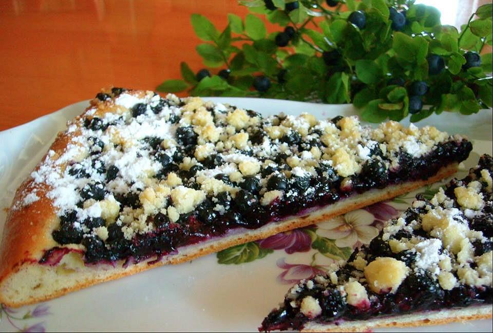 Borůvkový kynutý koláč recept