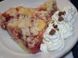 Rebarborovo-jahodový koláč s drobenkou recept