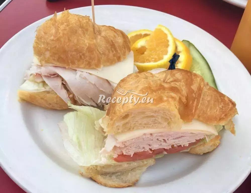 Croissant se šunkou recept  předkrmy, snídaně
