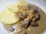 Hovězí maso na smetaně s houbami recept