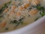 Špenátová polévka s cizrnou recept
