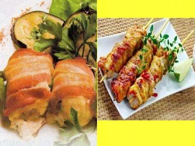 Kuřecí balíčky a kebab