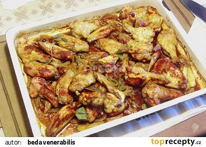 Pikantní pečená kuřecí křidýlka recept