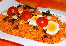 Mrkvový salát s rajčaty recept