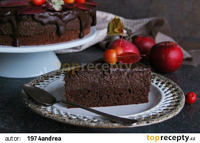 Čokoládovo  jablečný moučník recept
