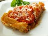 Obrácený koláč s rajčaty a karamelizovanou cibulí recept ...