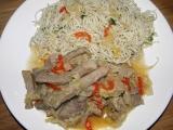 Vepřové nudličky v čínském zelí recept