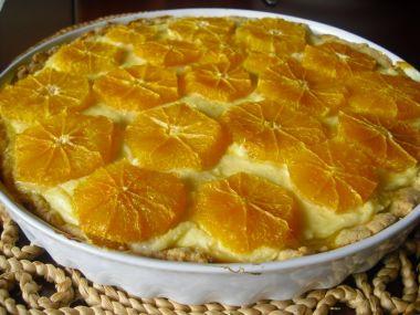Tvarohový koláč s pomeranči